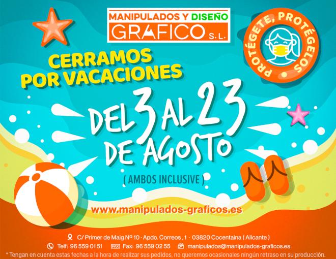 Banner Vacaciones Manipulados Gráficos